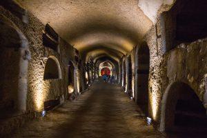 catacombes Naples, couloir 200 ap Jc