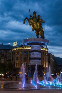 Statue du guerrier à cheval - Skopje