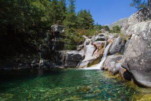 Chutes d'eau sur le GR20 Corse étape Onda - Pietra Piana