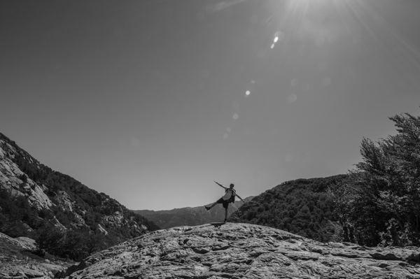 Aux abords de la Cascade des Anglais sur le GR20 en Corse