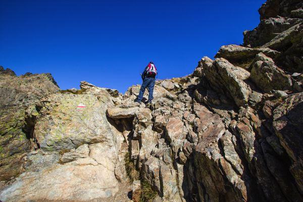 Escalade sur étape de Pietra Piana à Manganu - GR20 Corse