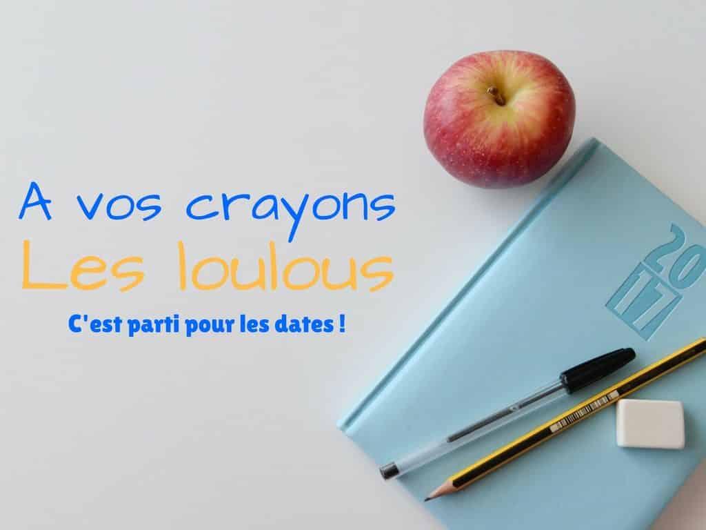A vos crayons pour nos dates de passage