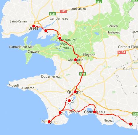 Notre parcours dans le Finistère