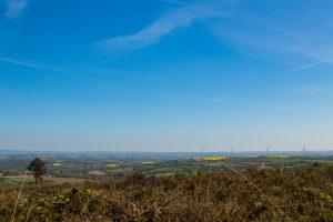 Le Finistère à vélo - paysage du Menez Quelc'h