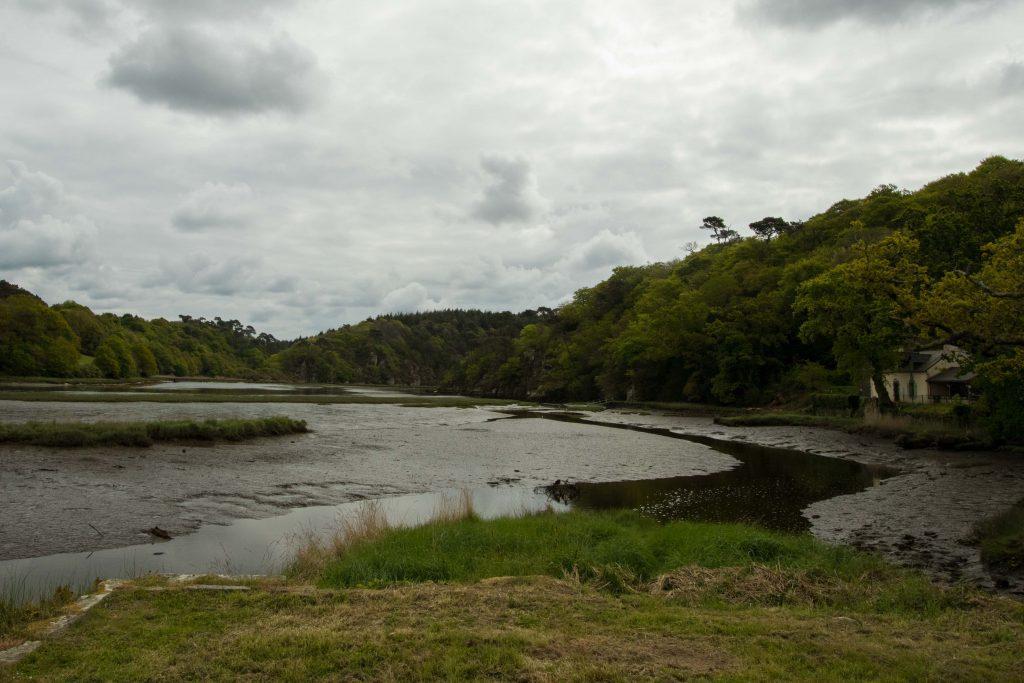 La rivière Laïta, Clohars-Carnoët, le Finistère à vélo