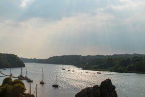 La Roche-Bernard, son port après une averse