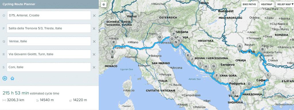 parcours bikemap