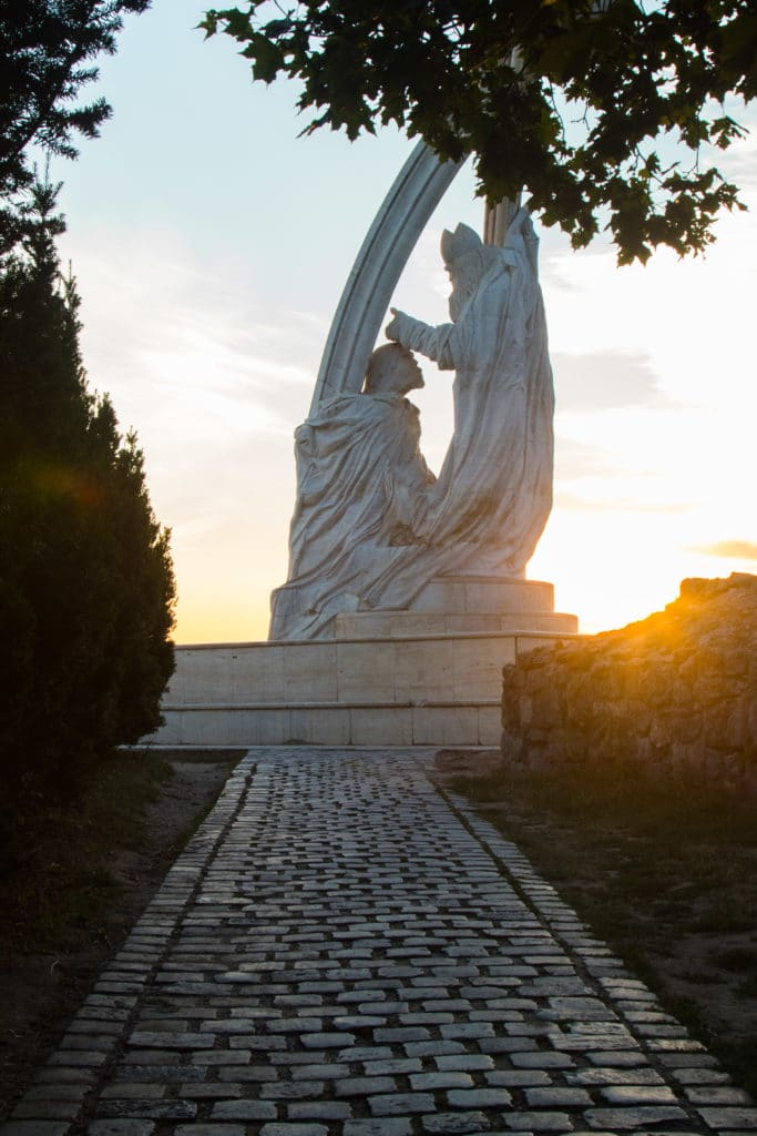 Statue Esztergom - Hongrie - EuroVelo 6
