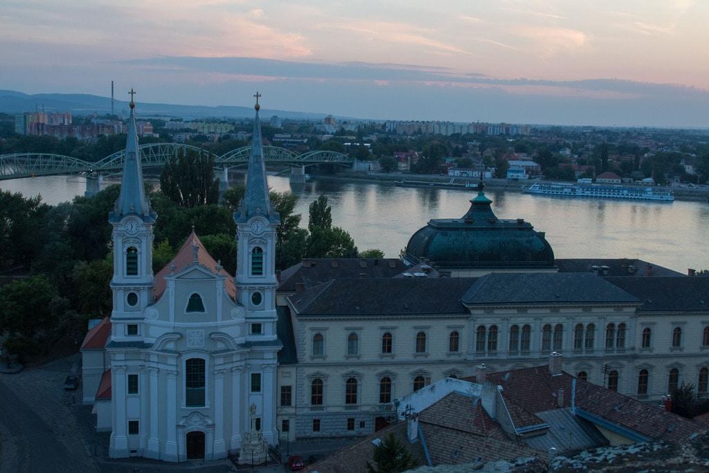 Vue sur Esztergom - EuroVelo 6
