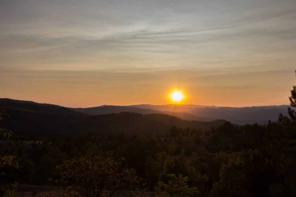 coucher de soleil - Macédoine