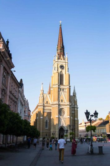Novi Sad sur l'Eurovélo 6 Serbie