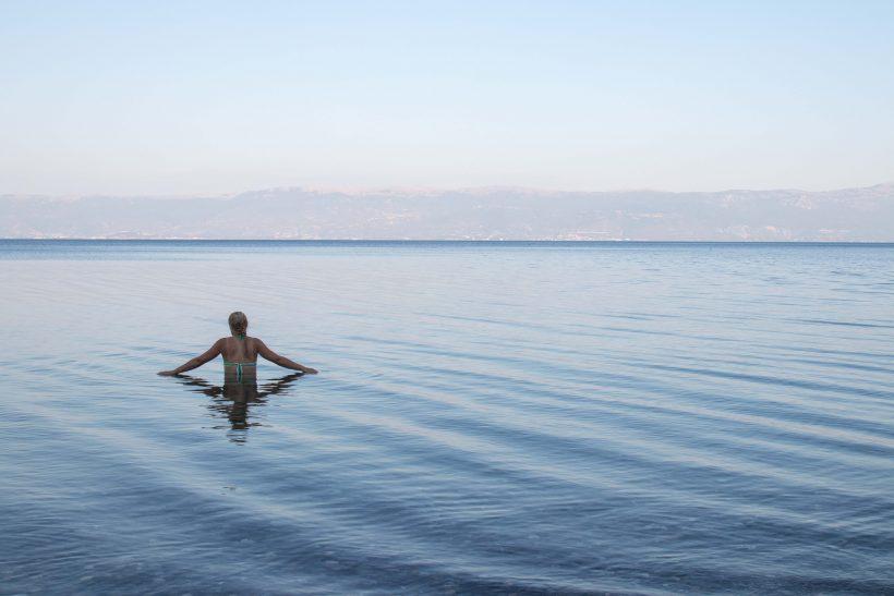 Baignade lac d'Ohrid