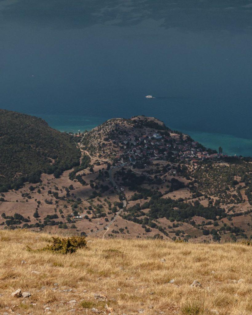 Vue Lac d'Ohrid