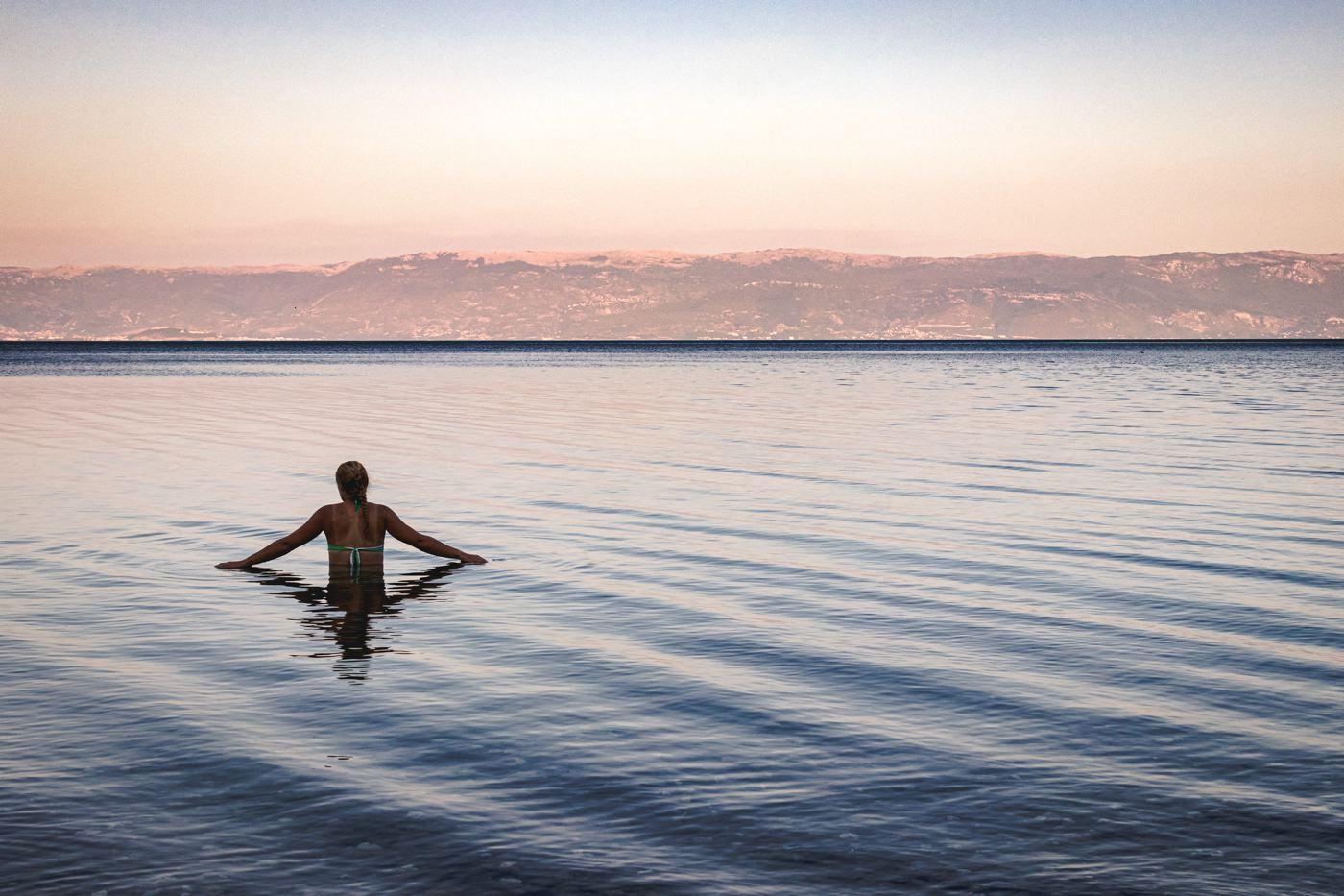 Baignade lac d'Ohrid - tour à vélo Ohrid