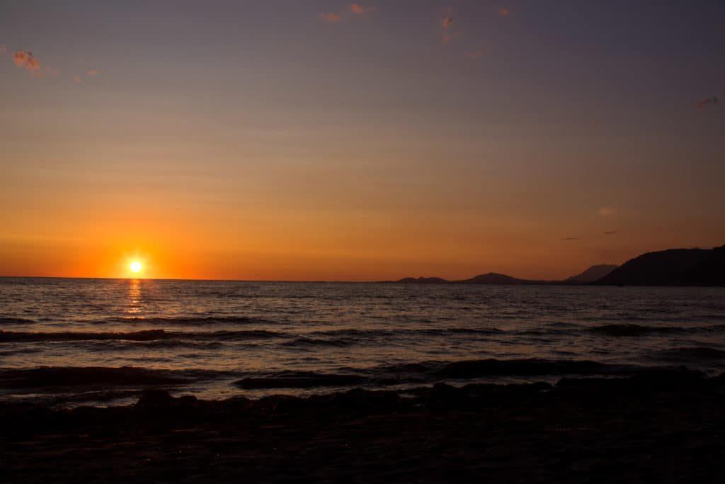 Coucher de soleil - Albanie