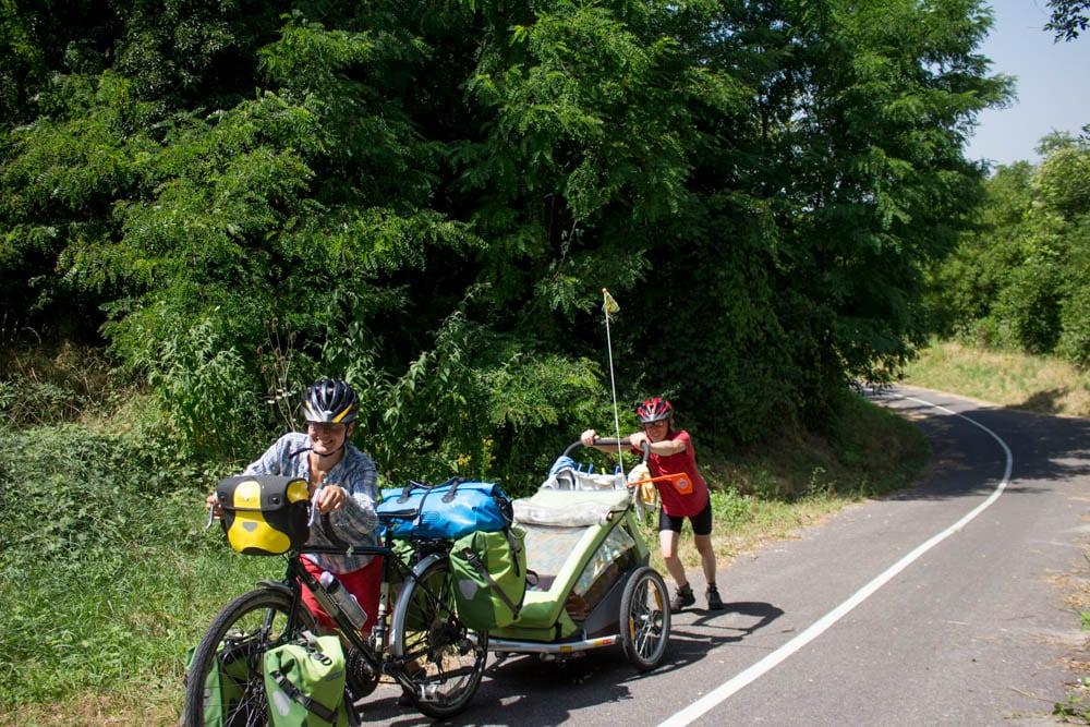 voyage végane à vélo