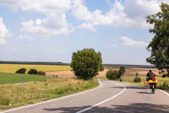 cyclovoyageurs en voyage à vélo