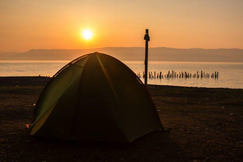voyage à vélo - camping