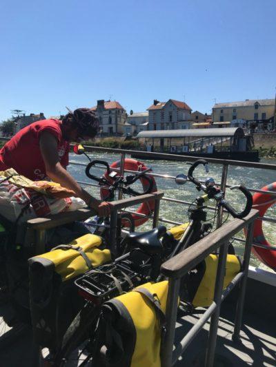 Prendre le bateau avec un vélo