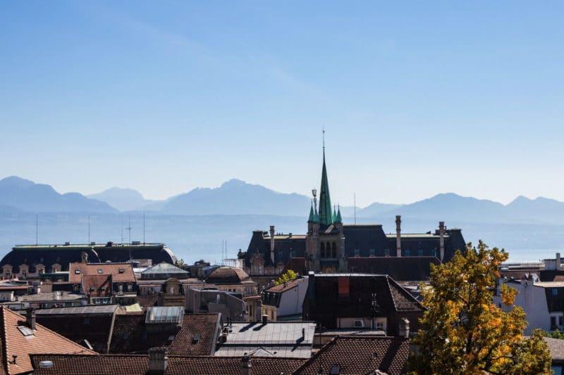 Vue parvis cathédrale - Lausanne