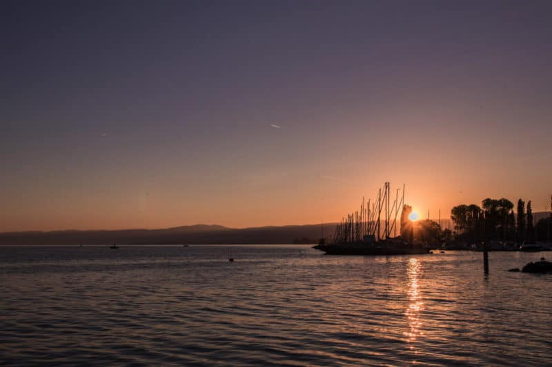 coucher de soleil Lausanne