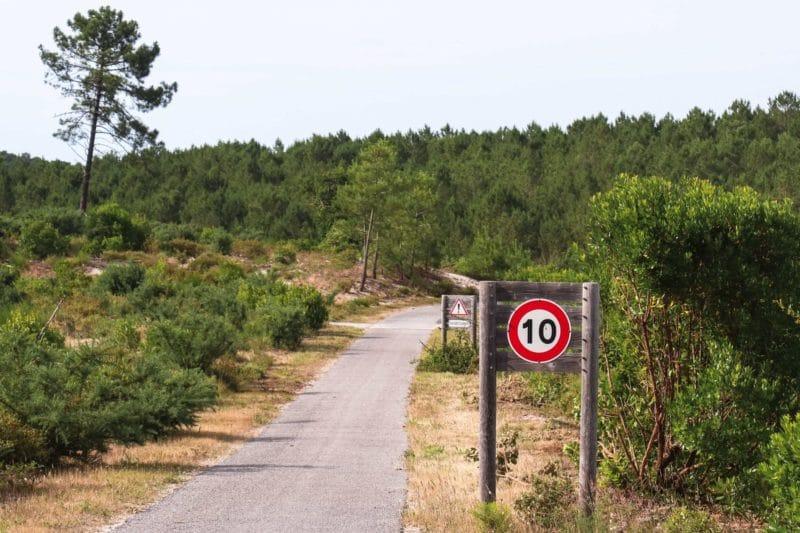 Route de lacs Velodyssée - Gironde