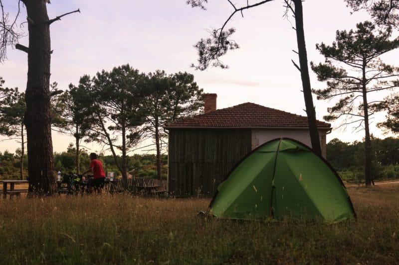 Camping sauvage - Velodyssee - Gironde