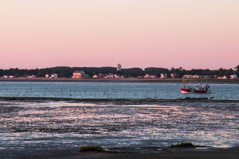 L'estuaire de la Seudre au coucher de soleil - Charente Maritime à vélo - Vélodyssée