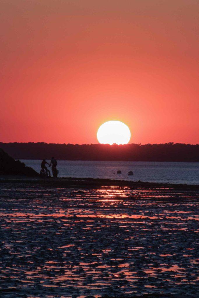 Ronce-les bains - coucher de soleil - Charente-maritime -vélo