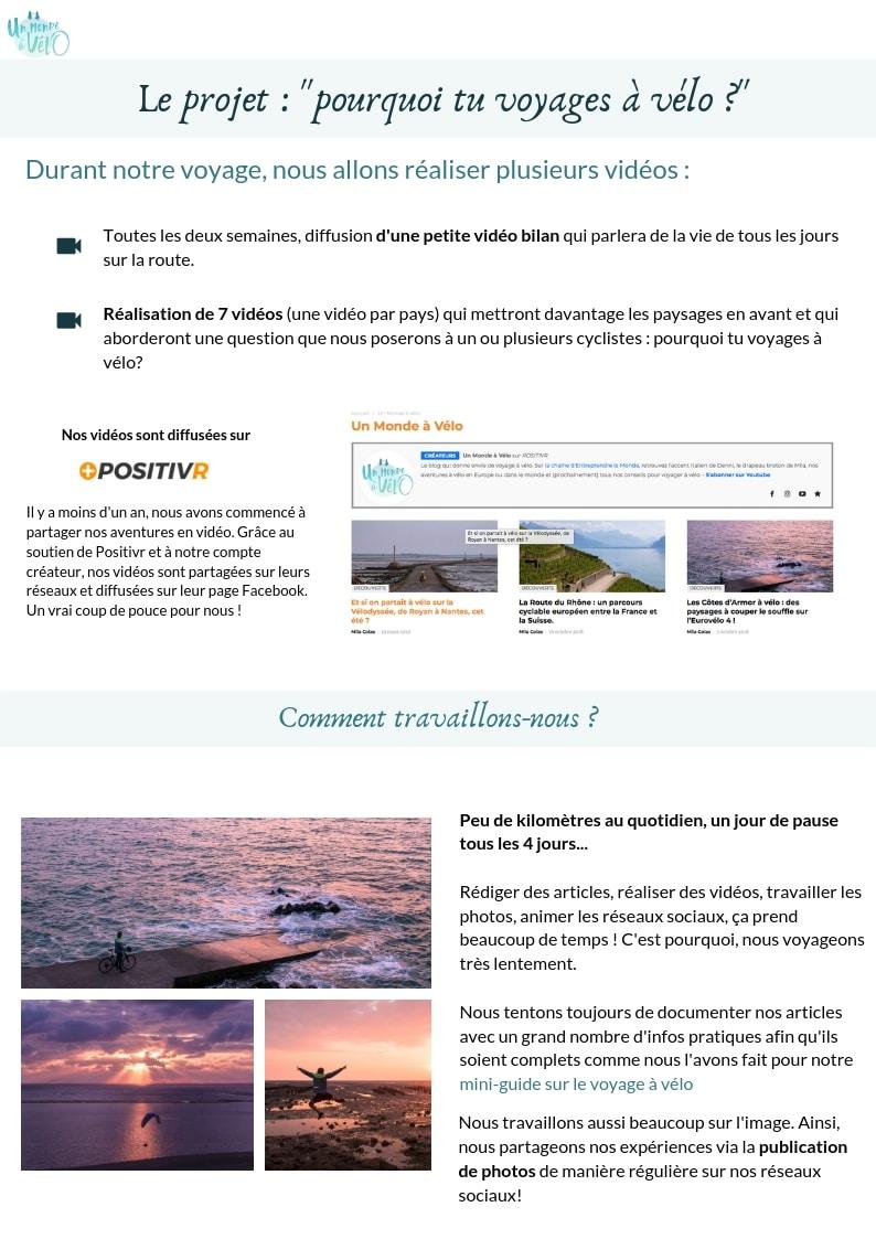 Dossier de sponsoring - page 4 - Un Monde à vélo