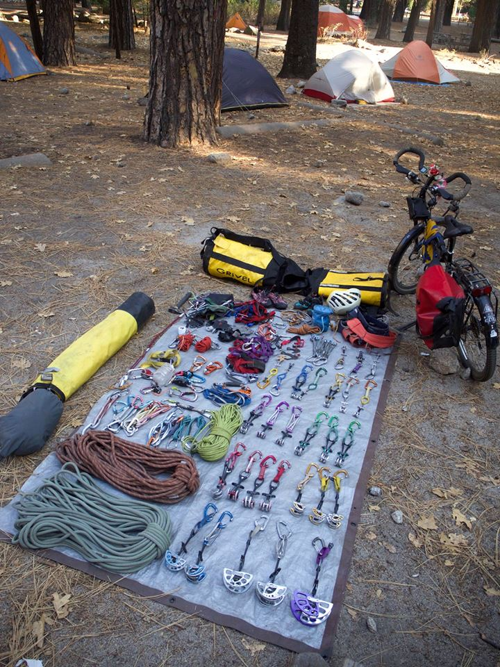 Matos-escalade- voyage à vélo