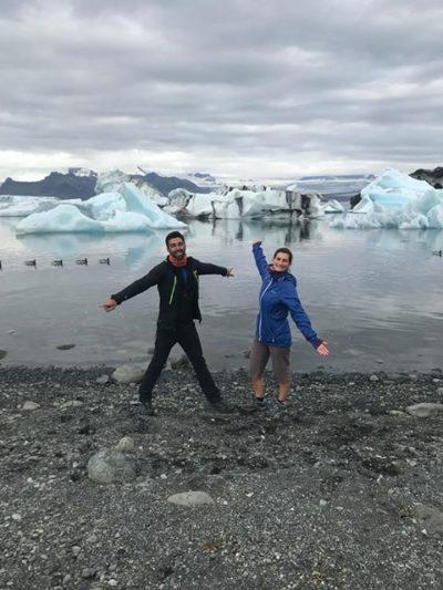 L'islande à vélo - Louise et son coéquipier