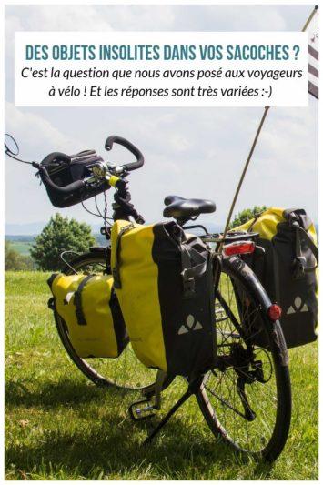 Des objets insolites dans les sacoches des cyclovoyageurs