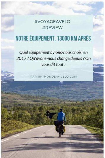 Review de notre équipement de cyclotourisme