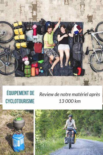 Review équipement de cyclotourisme - 13 000 km plus tard