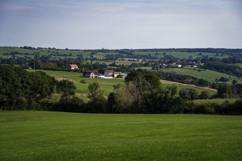 Vue depuis le village de Clermont sur Berwinne