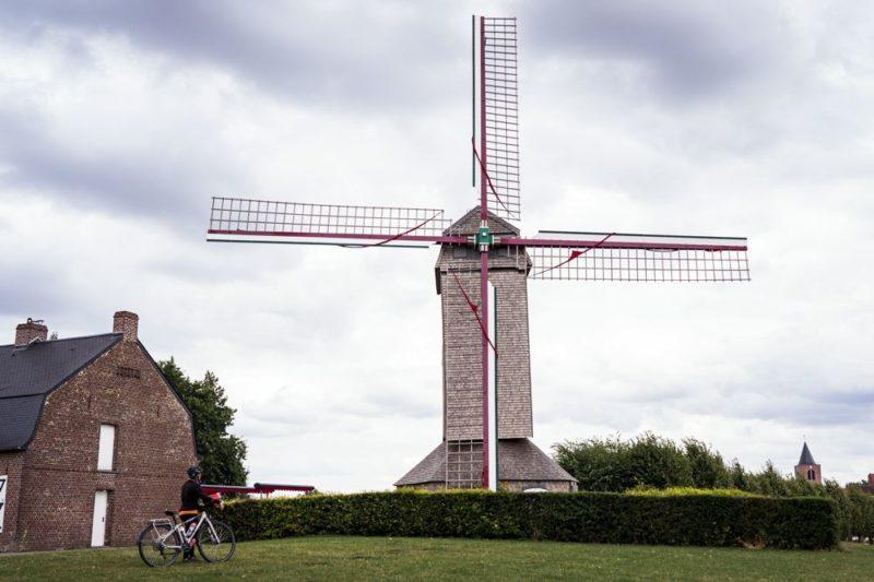 Moulin de Boeschepe - points noeuds à vélo