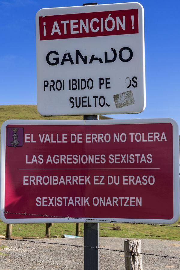 Panneau frontière franco-espagnole