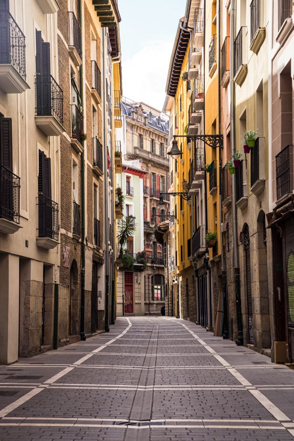 Pamplona - rues pavées
