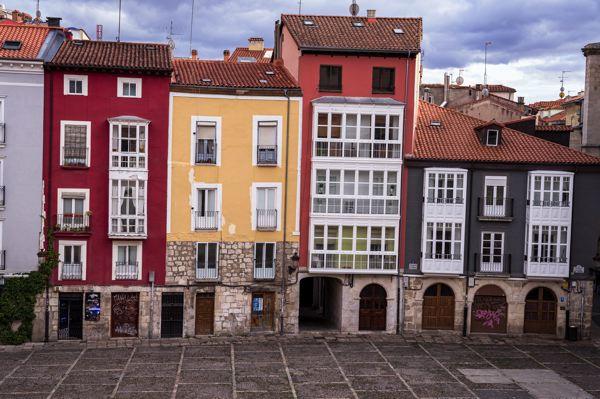 Immeubles de Burgos - EuroVelo 3 en Espagne
