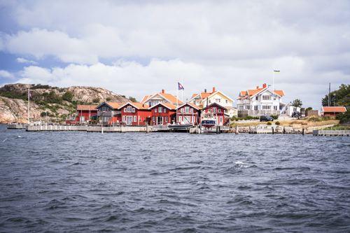 Fjords Suède - cabanes pêcheurs