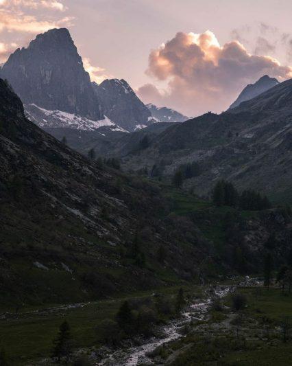 Vallée Grana - coucher de soleil
