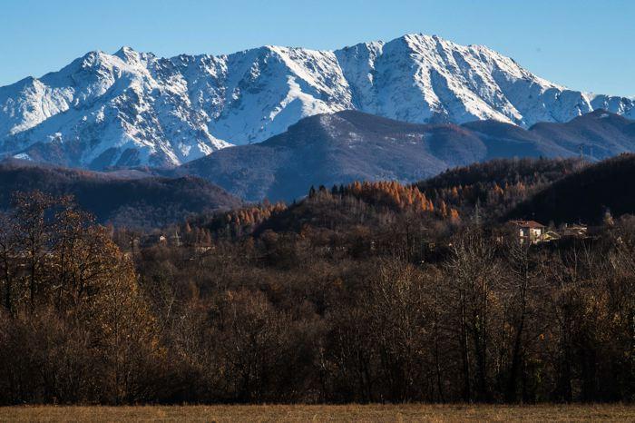 Vue sur la Bisalta depuis la vallée