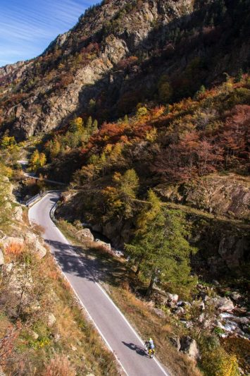 Route du col de la Lombarde