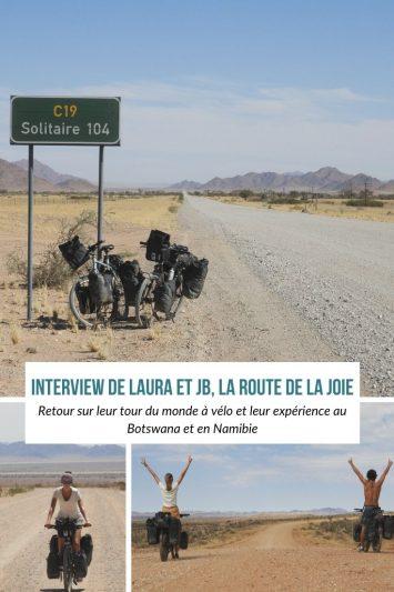 Botswana et Namibie à vélo : le retour d'expérience de la Route de la Joie durant leur tour du monde à vélo.