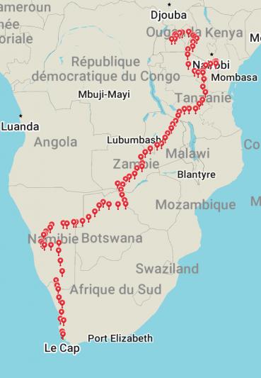 Itinéraire en Afrique
