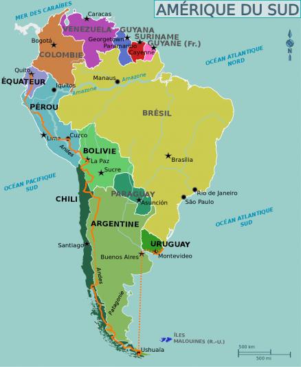 itinéraire Roulez-doudous Amérique du Sud