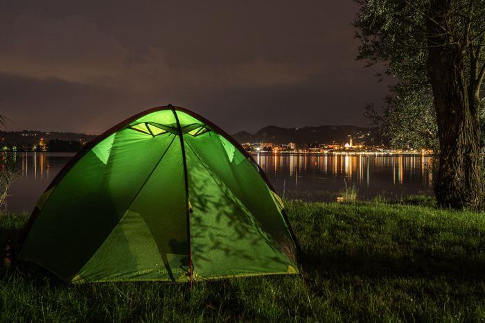 Vue depuis le camping sur Arona