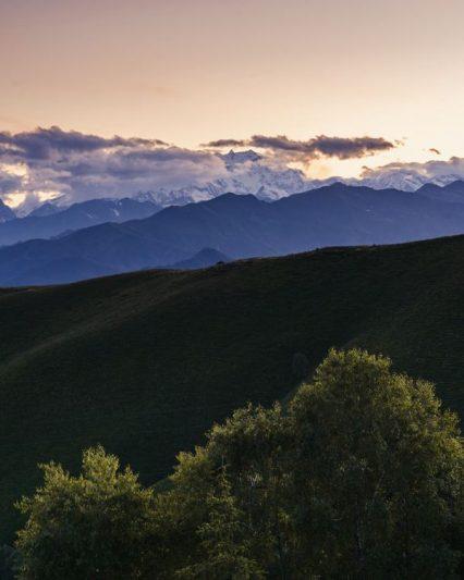 Coucher de soleil, Mont Rose- Mottarone à vélo