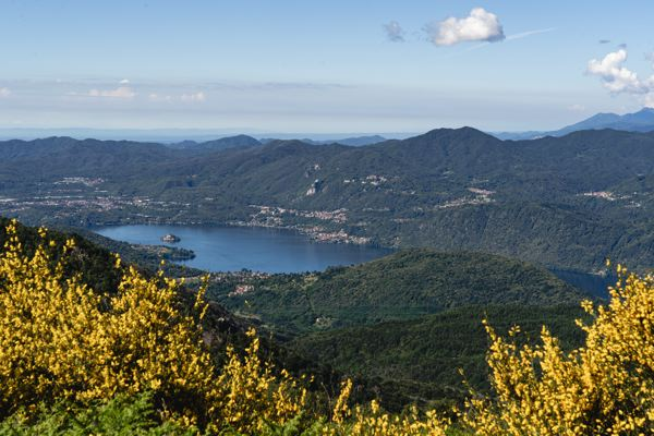 Isola San Giulio - Lac d'Orta - vue depuis le Mottarone